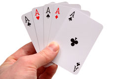 Five aces Stock Photography