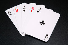 Five aces Royalty Free Stock Photos