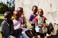 Five African children Royalty Free Stock Photo
