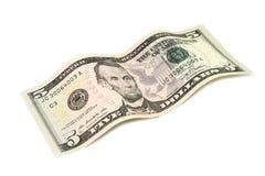 Five American dollars Stock Image
