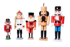 Five antique nutcrackers Royalty Free Stock Image