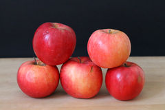 Five apples Royalty Free Stock Image