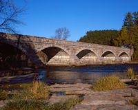 Five Arch Stone Bridge. One of the only five-arch stone bridges in North America, in Packenham, Ontario. High resolution film Royalty Free Stock Images