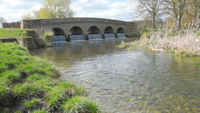Five Arches Bridge Weir stock footage