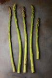 Five Asparagus Spears Stock Photos