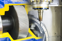 The five-axis CNC machine Royalty Free Stock Photos