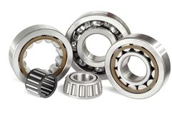 Five ball bearings Stock Images