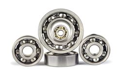 Five ball bearings Royalty Free Stock Images