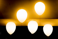 Five balloon incandescent for decorate Royalty Free Stock Image