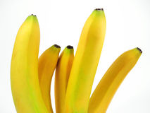 Five bananas Stock Photos