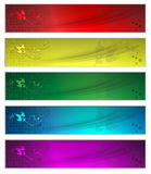 Five banners Stock Image