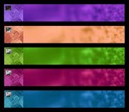 Five banners 2 Stock Photo