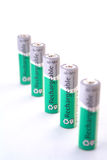 Five Battery in line Stock Image