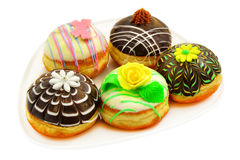 Five beautiful donuts Royalty Free Stock Image