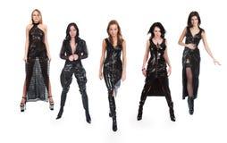 Five beautiful girls royalty free stock photo