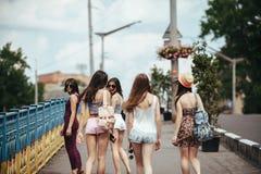 Five beautiful young girls Royalty Free Stock Photo