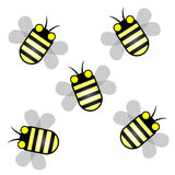 Five bee Royalty Free Stock Image