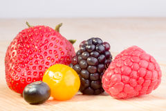Five Berries Royalty Free Stock Image
