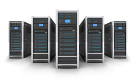Five big server Stock Photos