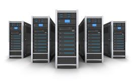 Five big server Stock Photos