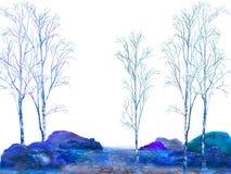 Blue landscape Royalty Free Stock Photos