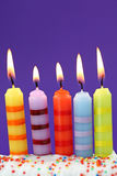 Five birthday candles Royalty Free Stock Photos