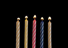 Five birthday candles Royalty Free Stock Photography