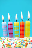 Five birthday candles Stock Photos