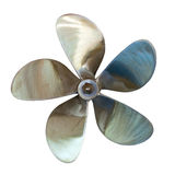 Five-bladed propeller. Isolated over white Stock Image