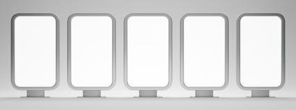 Five blank billboards Royalty Free Stock Image