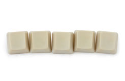 Five blank computer buttons Stock Photos