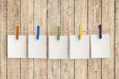 Five blank papers Royalty Free Stock Image