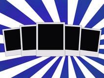 Five blank photos Stock Image