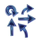 Five Blue Arrows Royalty Free Stock Photo