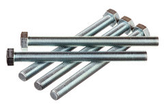Five bolts Stock Photography