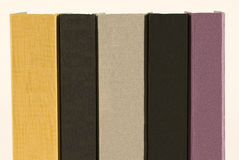 Five Books With Blank Spines Royalty Free Stock Image