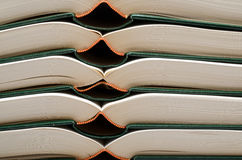 Five Books. Opened and stacked on each other Royalty Free Stock Photography