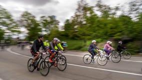 Five Boro Bike Tour. New York, NY. USA - May 7, 2017. Five Boro Bike Tour at Central Park 103 Street Royalty Free Stock Image