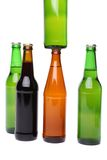 Five bottles of beer Royalty Free Stock Images