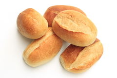 Five bread rolls Stock Photography