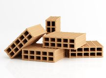 Five brick ten holes Royalty Free Stock Images