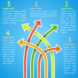 Five bright different way infographics. Vector Royalty Free Stock Images