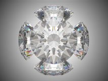 Five brilliant cut diamonds Stock Image