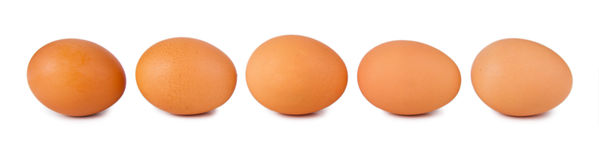 Five brown eggs Royalty Free Stock Photo