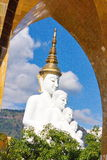 Five buddha on the blue sky. At Wat Phasornkaew in Thailand Royalty Free Stock Images