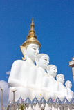 Five buddha on the blue sky. At Wat Phasornkaew in Thailand Stock Photos