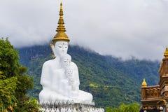 Five buddha on the mountain,Wat phasornkaew Temple, Kh Stock Photo