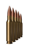 Five bullet isolated on a white bg photo Royalty Free Stock Photos