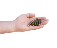 Five bullets for the weapon Royalty Free Stock Photography
