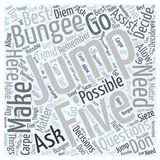Five Bungee Jumping Questions word cloud concept word cloud concept  background Royalty Free Stock Photography